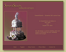 Thumbnail of Website for Cake Decorating