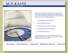 Thumbnail of MS Kahn Business Services Site