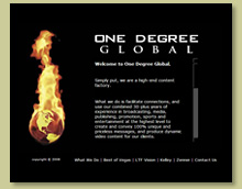 Thumbnail of One Degree Global Site